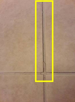 Cracks in Tile - Moisture in Wall
